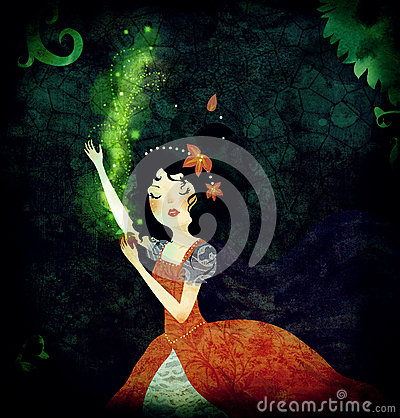 Snow White fairytale illustration