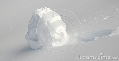 Snowball on the hill