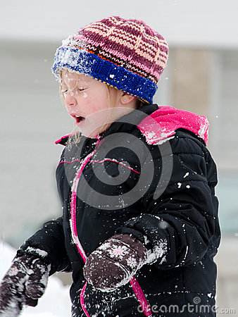 Free Snowball In The Face Stock Photo - 65332710