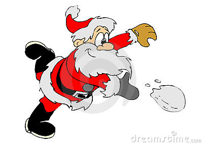 Snowball santa