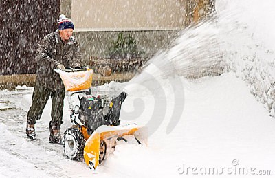 Snowblower in a snow storm