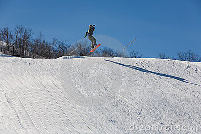 snowboad jump