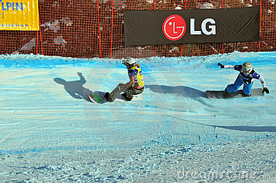 Snowboard cross world cup 2010 Editorial Photo