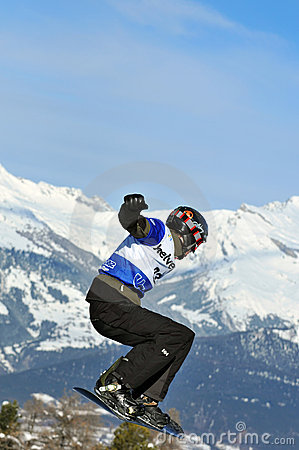 Snowboard cross world cup 2010: Pozzolini Editorial Image