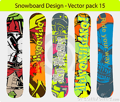 Snowboard design pack 15
