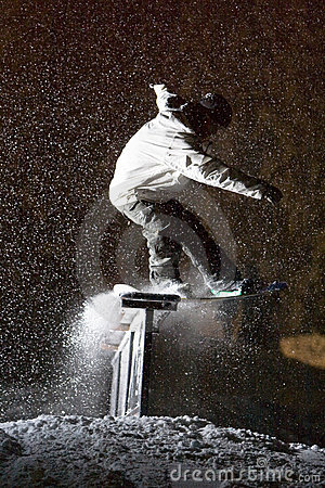 Snowboard Night Storm Slide