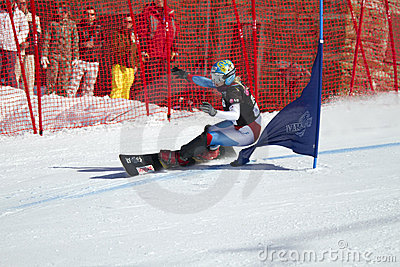 Snowboard parallel giant slalom Editorial Photography