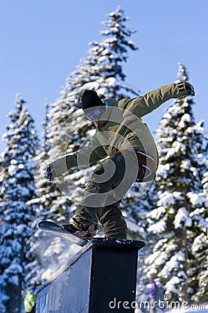 Snowboard Rail Slide