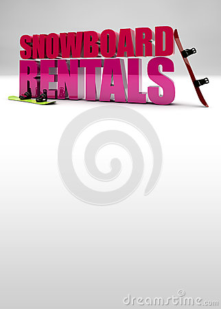 Snowboard rentals background
