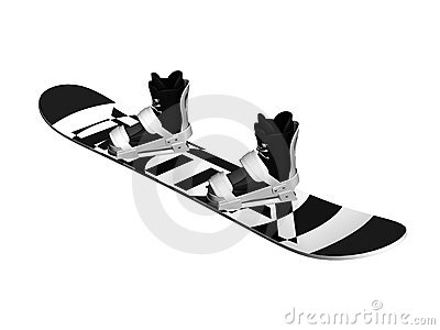 Snowboard with shoes