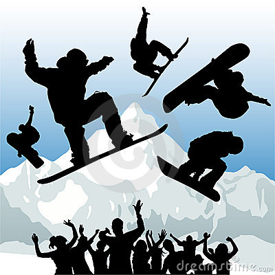 Snowboard vector