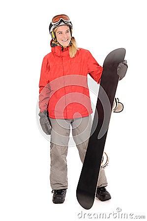 Snowboard, woman