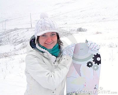 Snowboarder девушки