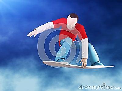 Snowboarder 3D grab