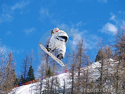 Snowboarder in the air Editorial Stock Image