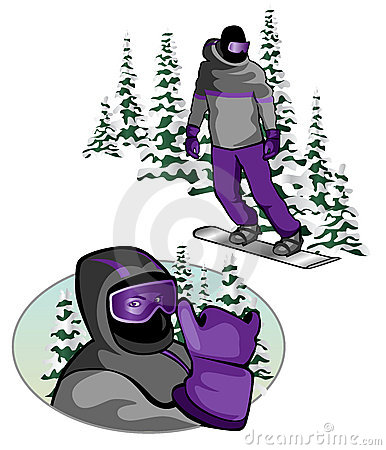 Snowboarder close up