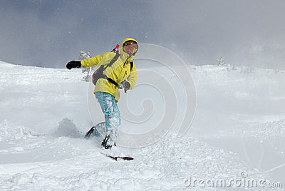 Snowboarder on the hill