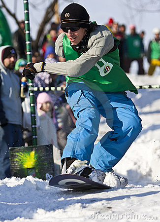 Snowboarder Jumping Editorial Stock Photo