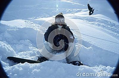 Snowboarder portrait 1