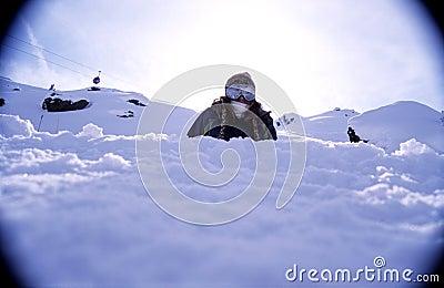 Snowboarder portrait 2