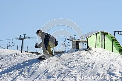 Snowboarding de saut de l australie