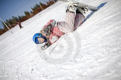 Snowboarding fall broken