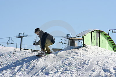 Snowboarding jump, Australia