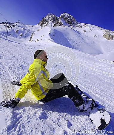 snowboarding in solden austria