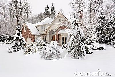 Snowbound home
