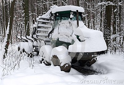 Snowbound timber vehicle
