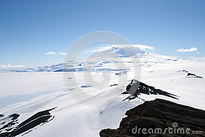 Snowcapped mountain in Antarctica