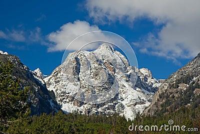 Snowcapped mountain at Grand Teton National Park