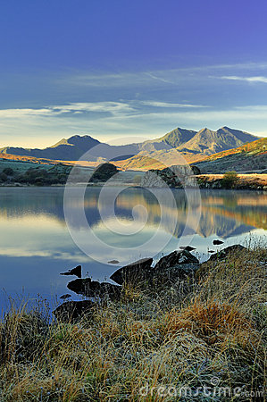 Free Snowdonia Mountains From Llynnau Mymbyr Stock Images - 26161784