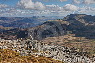Snowdonia National Park and an old Iron Age fort
