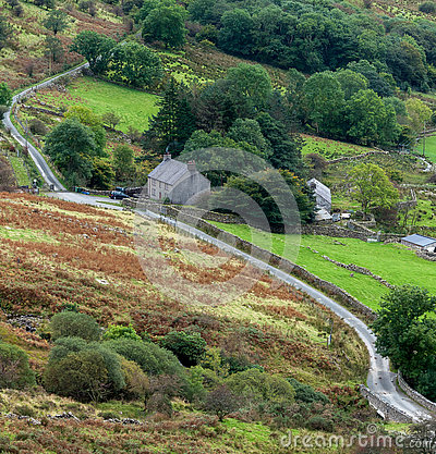 Free SNOWDONIA NATIONAL PARK, WALES/UK - OCTOBER 7 : Cottage In Snowd Stock Images - 73020954
