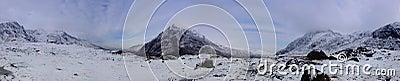 Snowdonia Panorama in Winter