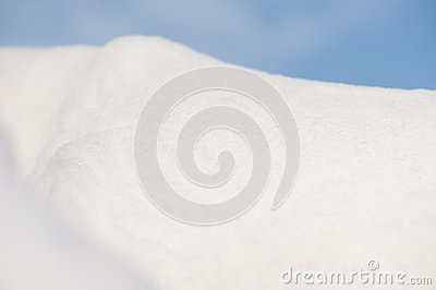 Snowdrift on sky background