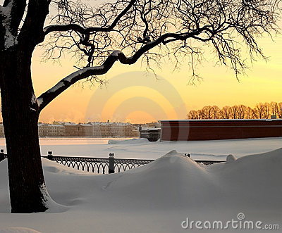 Snowdrifts in St.-Petersburg