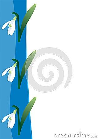 Snowdrop border template