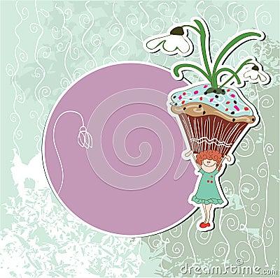 Snowdrop cupcake