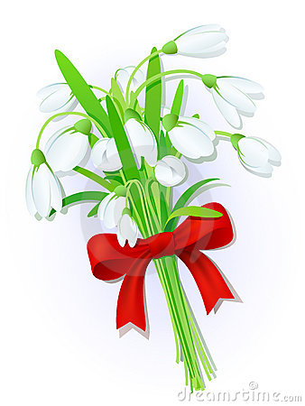 Snowdrops bouquet