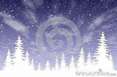 Snowfall & forest
