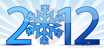 Snowflake 2012 text illustration