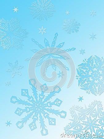 Snowflake background-aqua