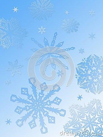 Snowflake background-blue
