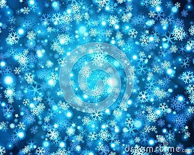 Snowflake background pattern