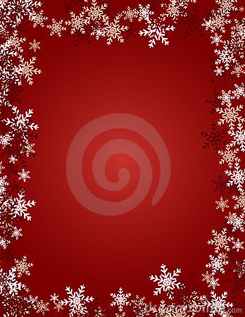 Snowflake Background - Red