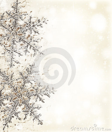 Snowflake beige decorative border