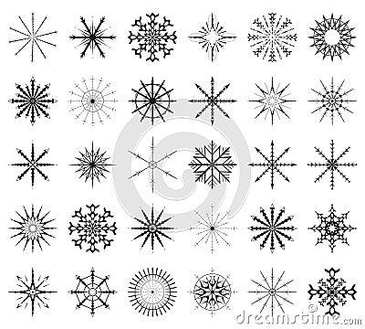Free Snowflake Big Set Stock Images - 6944904