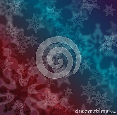 Snowflake  Bokeh abstract background